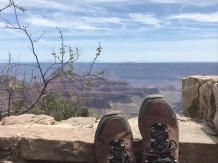 Dusty hiking.